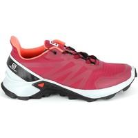 Čevlji  Pohodništvo Salomon Supercross Cerise Rdeča