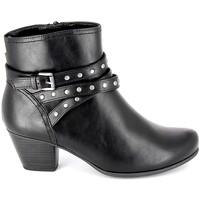 Čevlji  Ženske Gležnjarji Jana Boots 25362-23 Noir Črna