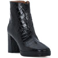 Čevlji  Ženske Gležnjarji Priv Lab NERO COCCO Nero