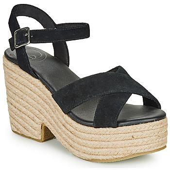 Čevlji  Ženske Sandali & Odprti čevlji Superdry HIGH ESPADRILLE SANDAL Črna