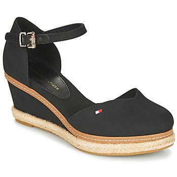 Čevlji  Ženske Sandali & Odprti čevlji Tommy Hilfiger BASIC CLOSED TOE MID WEDGE Črna