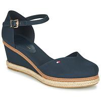Čevlji  Ženske Sandali & Odprti čevlji Tommy Hilfiger BASIC CLOSED TOE MID WEDGE Modra