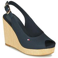 Čevlji  Ženske Sandali & Odprti čevlji Tommy Hilfiger ICONIC ELENA SLING BACK WEDGE Modra