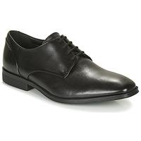 Čevlji  Moški Čevlji Derby Clarks GILMAN PLAIN Črna