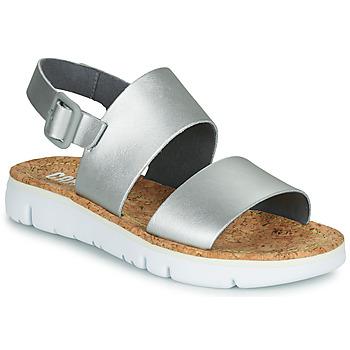 Čevlji  Ženske Sandali & Odprti čevlji Camper ORUGA Srebrna