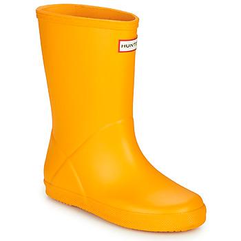 Čevlji  Otroci škornji za dež  Hunter KIDS FIRST CLASSIC Rumena
