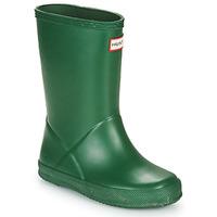 Čevlji  Otroci škornji za dež  Hunter KIDS FIRST CLASSIC Zelena