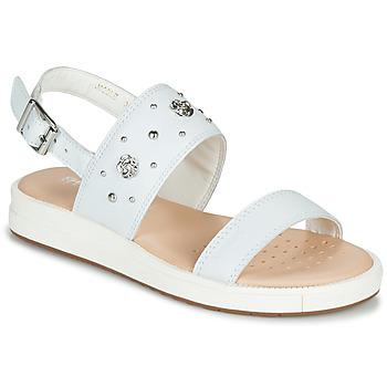 Čevlji  Deklice Sandali & Odprti čevlji Geox J SANDAL REBECCA GIR Bela