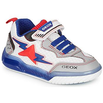Čevlji  Dečki Nizke superge Geox J INEK BOY Bela / Modra / Rdeča