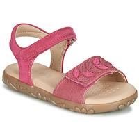 Čevlji  Deklice Sandali & Odprti čevlji Geox J SANDAL HAITI GIRL Fuksija