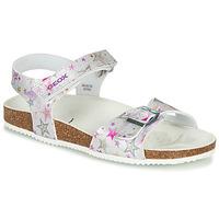 Čevlji  Deklice Sandali & Odprti čevlji Geox ADRIEL GIRL Srebrna