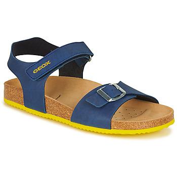 Čevlji  Dečki Sandali & Odprti čevlji Geox GHITA BOY Modra / Rumena