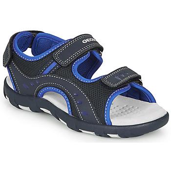 Čevlji  Dečki Športni sandali Geox JR SANDAL PIANETA Modra