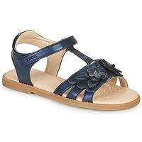 Čevlji  Deklice Sandali & Odprti čevlji Geox J SANDAL KARLY GIRL Modra