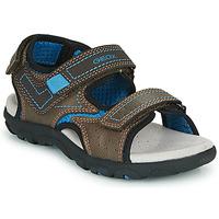 Čevlji  Dečki Športni sandali Geox JR SANDAL STRADA Kostanjeva / Modra