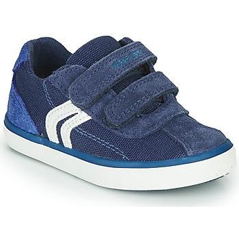 Čevlji  Dečki Nizke superge Geox B KILWI BOY Modra / Bela