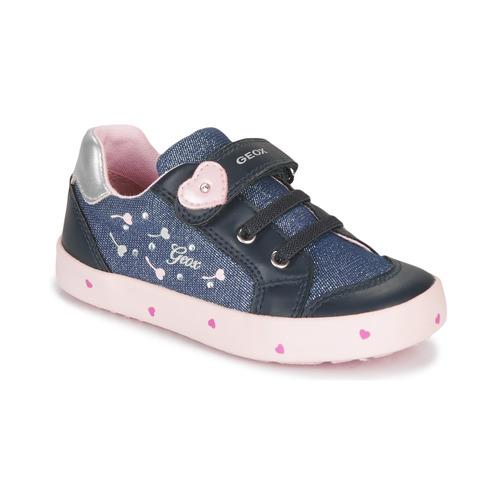 Čevlji  Deklice Nizke superge Geox B KILWI GIRL Modra / Rožnata