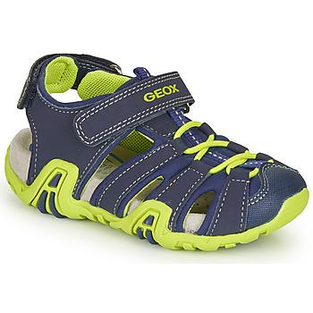 Čevlji  Dečki Športni sandali Geox B SANDAL KRAZE Zelena