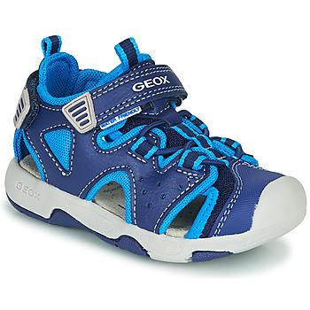 Čevlji  Dečki Športni sandali Geox B SANDAL MULTY BOY Modra