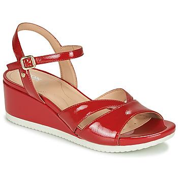 Čevlji  Ženske Sandali & Odprti čevlji Geox D ISCHIA Rdeča