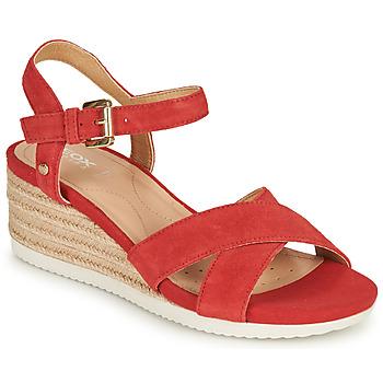 Čevlji  Ženske Sandali & Odprti čevlji Geox D ISCHIA CORDA Rdeča