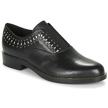 Čevlji  Ženske Čevlji Derby Geox D BROGUE S Črna / Pozlačena