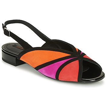 Čevlji  Ženske Sandali & Odprti čevlji Geox D WISTREY SANDALO Črna / Rdeča / Rožnata