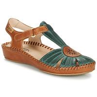 Čevlji  Ženske Sandali & Odprti čevlji Pikolinos P. VALLARTA 655 Kamel / Zelena