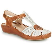 Čevlji  Ženske Sandali & Odprti čevlji Pikolinos P. VALLARTA 655 Bela / Kamel