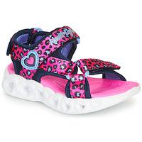 Čevlji  Deklice Športni sandali Skechers HEART LIGHTS Rožnata / Črna