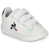 Čevlji  Otroci Nizke superge Le Coq Sportif COURTSET INF Bela