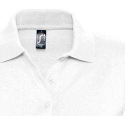 Oblačila Ženske Polo majice kratki rokavi Sols PRESCOTT POLO MUJER Blanco