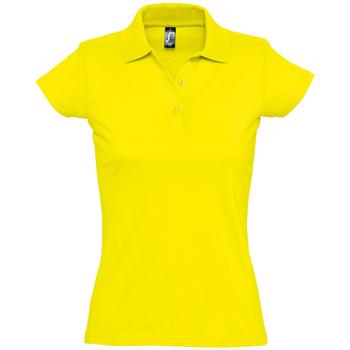 Oblačila Ženske Polo majice kratki rokavi Sols PRESCOTT CASUAL DAY Amarillo