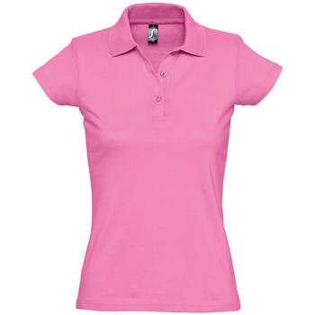 Oblačila Ženske Polo majice kratki rokavi Sols PRESCOTT CASUAL DAY Rosa