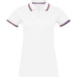 Oblačila Ženske Polo majice kratki rokavi Sols PRESTIGE MODERN WOMEN Blanco