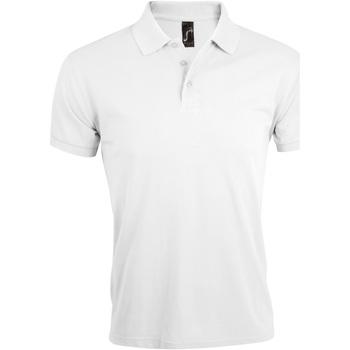 Oblačila Moški Polo majice kratki rokavi Sols PRIME ELEGANT MEN Blanco