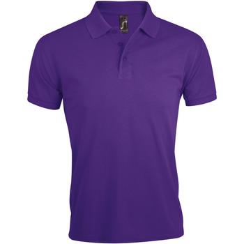 Oblačila Moški Polo majice kratki rokavi Sols PRIME ELEGANT MEN Violeta