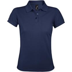 Oblačila Ženske Polo majice kratki rokavi Sols PRIME ELEGANT WOMEN Azul