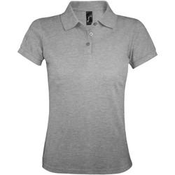Oblačila Ženske Polo majice kratki rokavi Sols PRIME ELEGANT WOMEN Gris