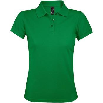 Oblačila Ženske Polo majice kratki rokavi Sols PRIME ELEGANT WOMEN Verde