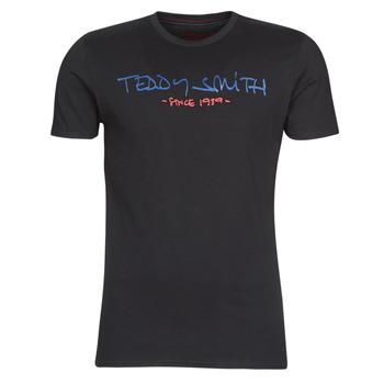 Oblačila Moški Majice s kratkimi rokavi Teddy Smith TICLASS Črna
