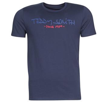 Oblačila Moški Majice s kratkimi rokavi Teddy Smith TICLASS Modra