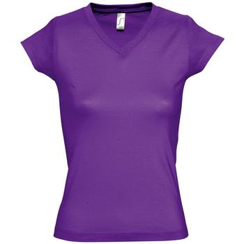 Oblačila Ženske Majice s kratkimi rokavi Sols MOON COLORS GIRL Violeta