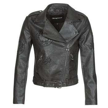 Oblačila Ženske Usnjene jakne & Sintetične jakne Desigual UTAH Črna