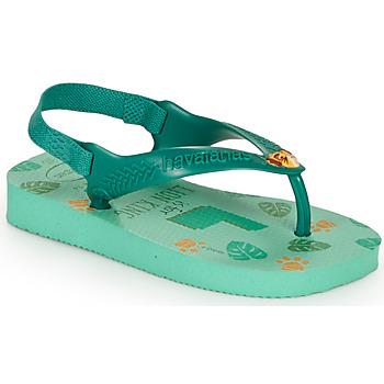 Čevlji  Otroci Japonke Havaianas BABY DISNEY CLASSICS II Zelena
