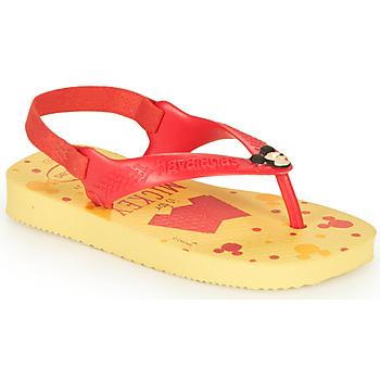 Čevlji  Dečki Japonke Havaianas BABY DISNEY CLASSICS II Rumena / Red