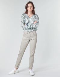 Oblačila Ženske Hlače s 5 žepi Cream ANNIE Siva
