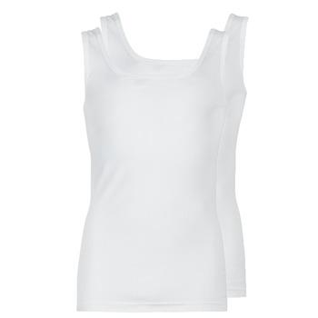 Oblačila Moški Majice brez rokavov Athena COTON BIO Bela