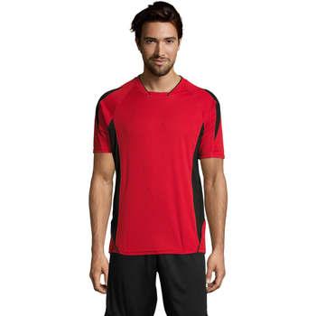 Oblačila Moški Majice s kratkimi rokavi Sols MARACANA 2 SSL SPORT Rojo