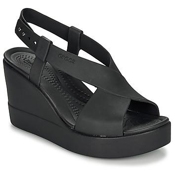Čevlji  Ženske Sandali & Odprti čevlji Crocs CROCS BROOKLYN HIGH WEDGE W Črna